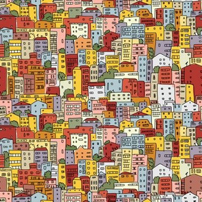 Cityscape abstract, sketch for your print