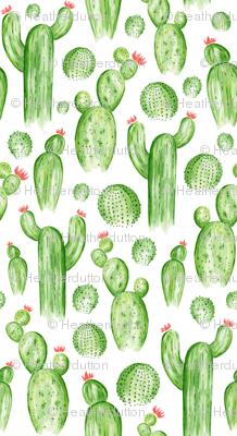 Cactus Garden - Watercolor Green