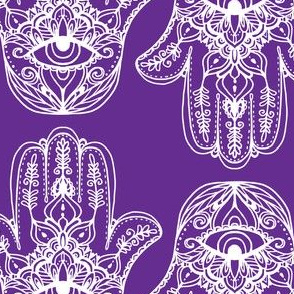 Indian Henna Design Purple Indian Henna Design Purple, hamsa, Hand of Fatima