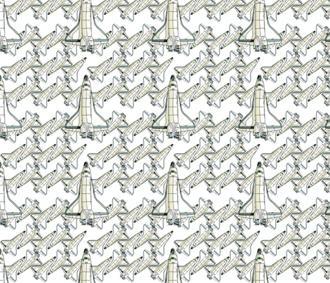 Drag me to the Shuttle fabric by taras on Spoonflower - custom fabric