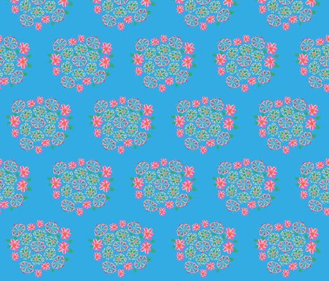 swimming floral fabric by violettvalentine on Spoonflower - custom fabric