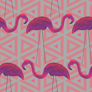 Pink Retro Flamingo