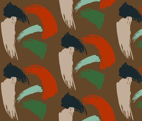 Earthtones Brush fabric by landrycreative on Spoonflower - custom fabric