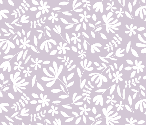 Lilac Florals fabric by bluebirdcoop on Spoonflower - custom fabric