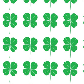 Four Leaf Clover - simple green and white