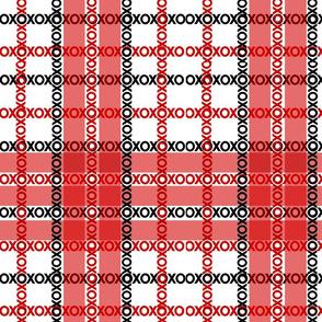 XOXO Red Plaid