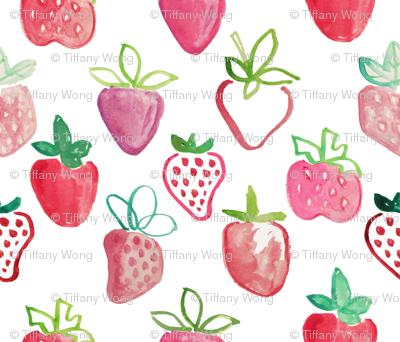 joyful abstract strawberries