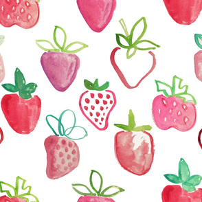 joyful abstract strawberries