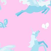 Dancing Unicorns Pony and Pegasus