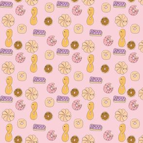 Kawaii Style Doughnut Print