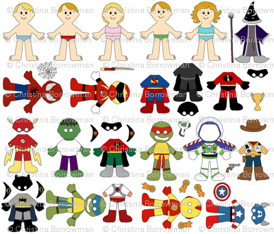 Paper Dolls - Superheroes