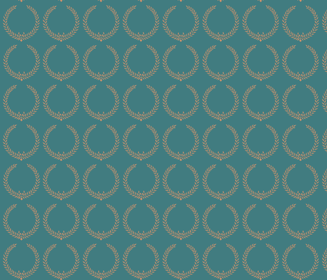 Laurel Wreaths fabric by janinez on Spoonflower - custom fabric