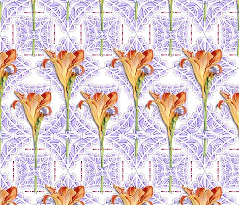 Victorian watercolor floral cut work fabric for Victorian floral fabric
