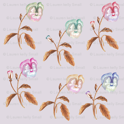 Pansy Meadow Copper Lilac Smoke