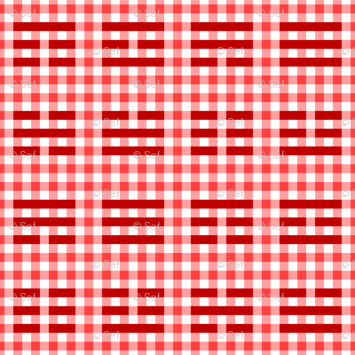 i-ching gingham thing : red