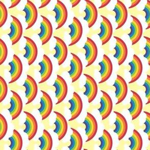 small sideways circle-rainbow, bright skies