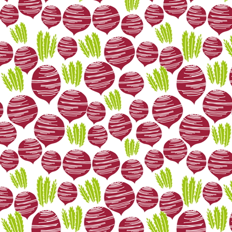 beets // fall veggies vegetables thanksgiving kids cute food fabric by andrea_lauren on Spoonflower - custom fabric