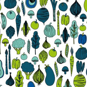 vegetables // fall thanksgiving harvest autumn vegetables aubergine broccoli