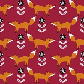 fox // fall autumn foxes scandi kids burgundy
