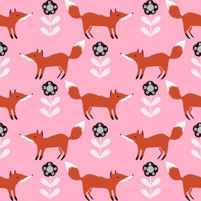 fox // fall autumn woodland pink girls sweet foxes animals woodland creatures
