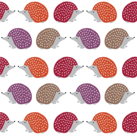 hedgehog // fall autumn hedgie kids woodland critter autumn fabric for kids fabric by andrea_lauren on Spoonflower - custom fabric