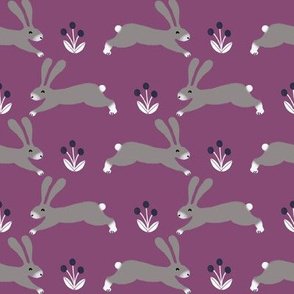 rabbit // fall autumn rabbit bunny cute purple autumn woodland animal critter