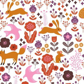 autumn // woodland animals fall cute bunny fox squirrels cute forest animals