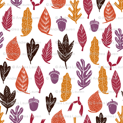 autumn leaves // forest woodland kids cute oak oak leaves acorn autumn fall colors