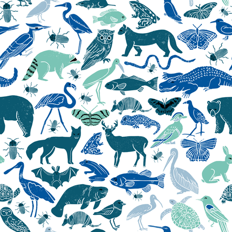 Animals boys room nursery green teal and blue mint kids for Fabric for boys room