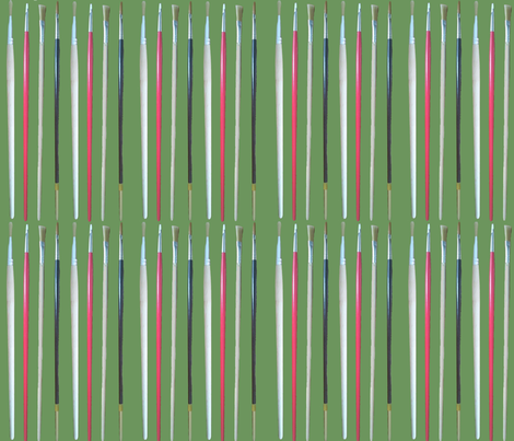 Artist_s_stripe fabric by amanda_jane_textiles on Spoonflower - custom fabric