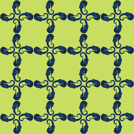 Seahorse Squared fabric by trollop on Spoonflower - custom fabric