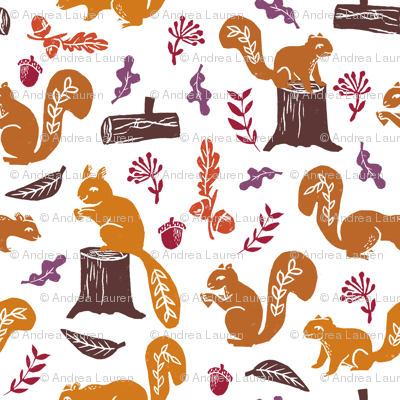 squirrels // nature fall autumn woodland forest oak oak leaves kids baby