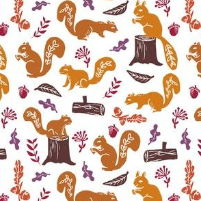 squirrels // nature fall autumn woodland forest oak oak leaves kids baby