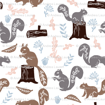 squirrels // nature fall kids woodland outdoors camping soft colors baby cute animals