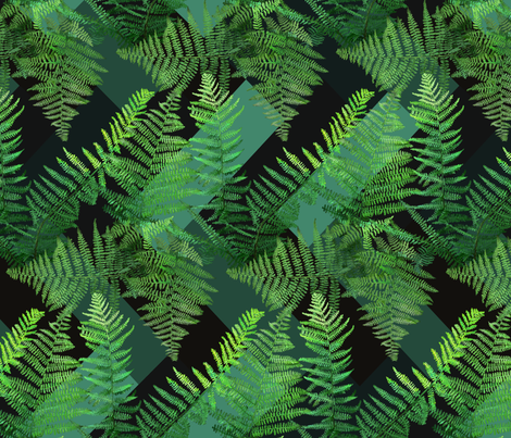 fern herringbone  fabric by rachelmacdonald on Spoonflower - custom fabric