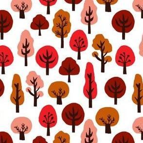 trees // fall trees autumn colours kids fall autumn trees linocut block print autumn