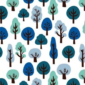 trees // winter forest woodland blue ice cold winter holiday xmas trees