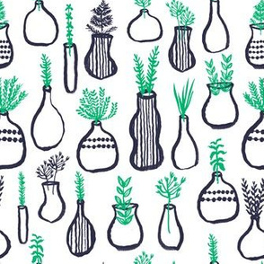 plants // planters kids hand-drawn ikea inspired herbs plant pots gardening