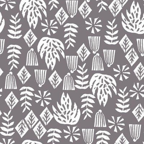 tropical palm print // grey kids summer surf hawaii tropical palm print linocut block prints