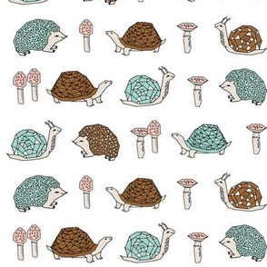 woodland critters // kids woodland forest hedgie snail mushrooms kids woodland forest design