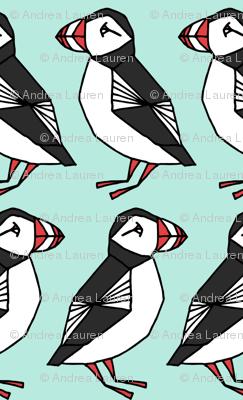 puffin // mint bird birds winter kids cute birds