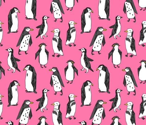 Rhuddle_of_penguins_pink_shop_preview