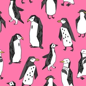 penguins // birds cute pink winter birds penguin