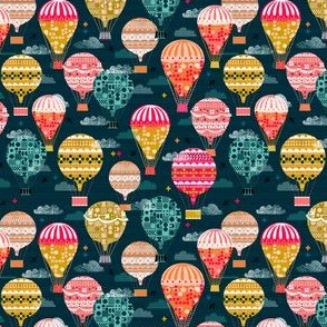 hot air balloons // smallest version retro vintage balloons
