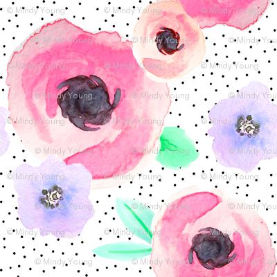 Indy Bloom Design Polka Floral A