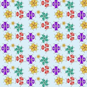 Snails amongst the flowers