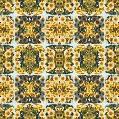Daisy Squares fabric by whimsydesigns on Spoonflower - custom fabric