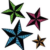 Neon Nautical Stars
