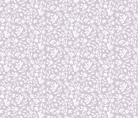 Small Lilac Floral fabric by bluebirdcoop on Spoonflower - custom fabric