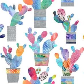 Watercolour Cactus, Cacti